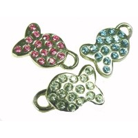Diamante Fish ID tags for cats or dogs